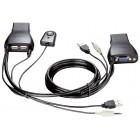 Переключатель D-Link KVM-221 для клавиатуры, монитора и мыши